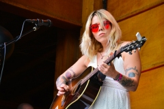 Mary Gauthier performs at Folks Fest 2021 at Planet Bluegrass in Lyons, CO