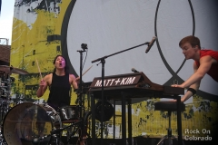 Matt and Kim at Red Rocks